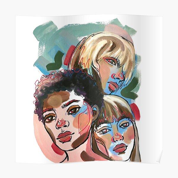 faces triad print Poster