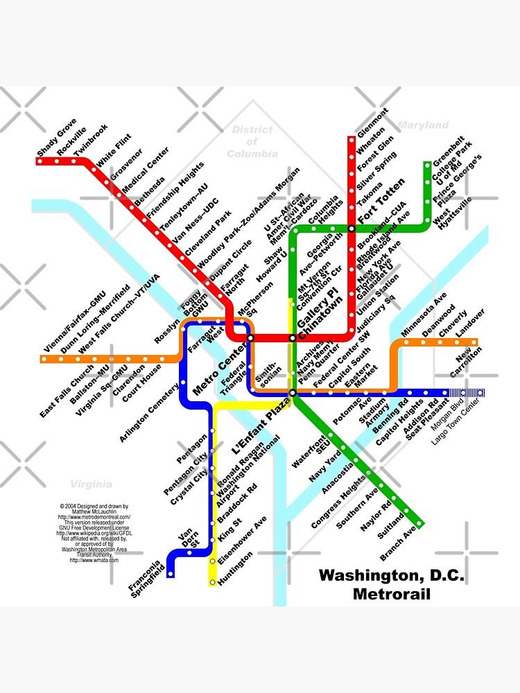 Washington DC Metro Subway Map by jutulen