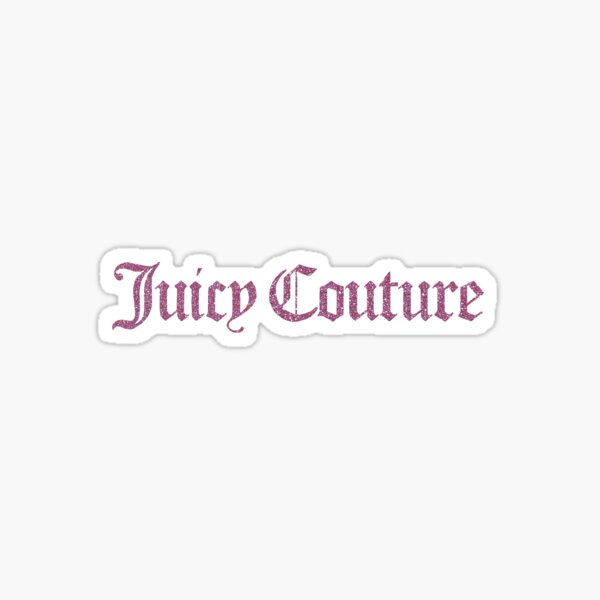 Juicy Couture pink glitter Sticker
