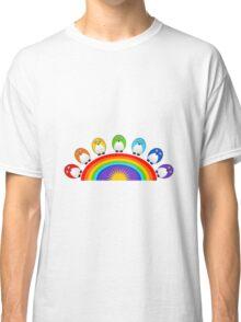 Little Cute Rainbow Birds Classic T-Shirt