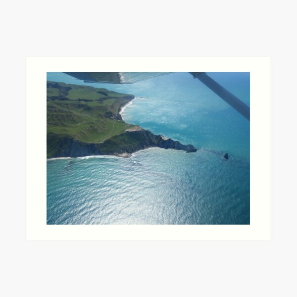 Cape Kidnappers by plane Art Print