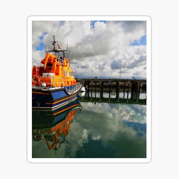 Always on standby - Newlyn lifeboat Sticker