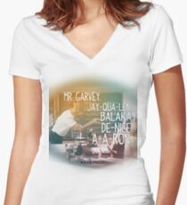 51d89470e564 Key   Peele Substitute Teacher Mr Garvey Women s Fitted V-Neck T-Shirt