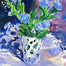 Lavender and White Vase Still Life Watercolor by COusley622