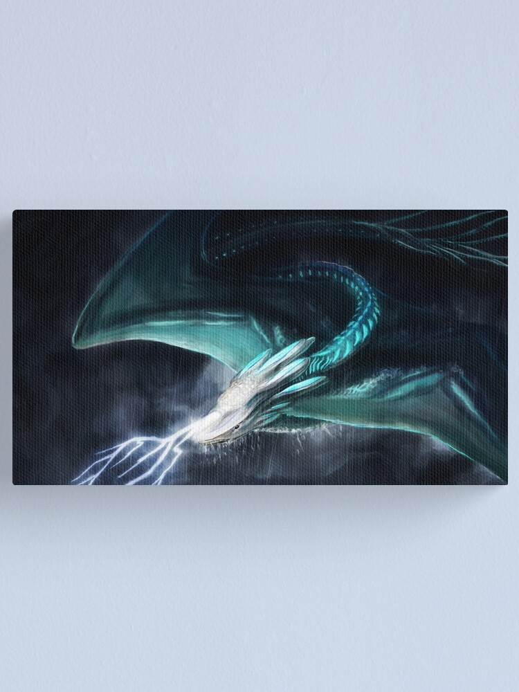 White Dragon Canvas Print 20*30 Inch HUGE !