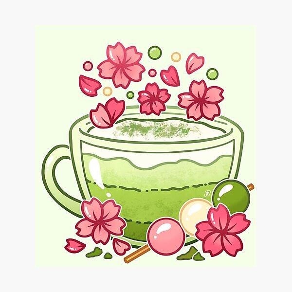 Sakura Matcha Tea Photographic Print