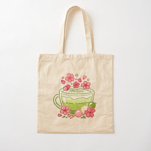 Sakura Matcha Tea Cotton Tote Bag