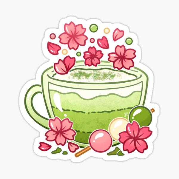 Sakura Matcha Tea Sticker