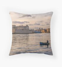 The Grand Harbour Throw Pillow