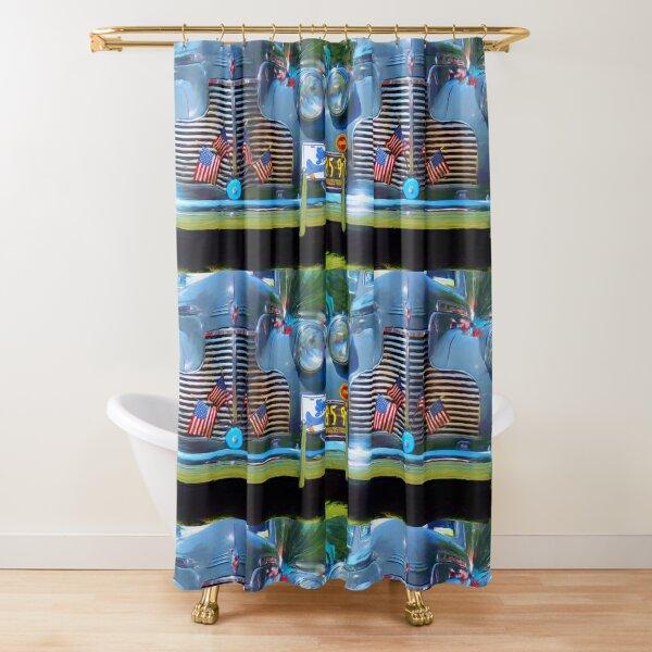 Americana in Blue Shower Curtain