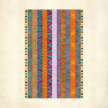 Tribal Stripes by pamegallegos