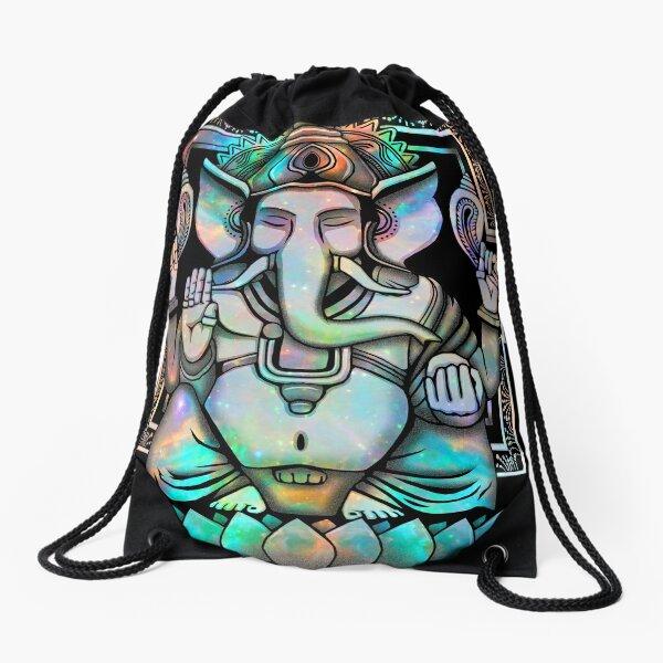 Cosmic Ganesh Drawstring Bag