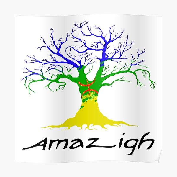 Drapeau de l'arbre amazigh Poster