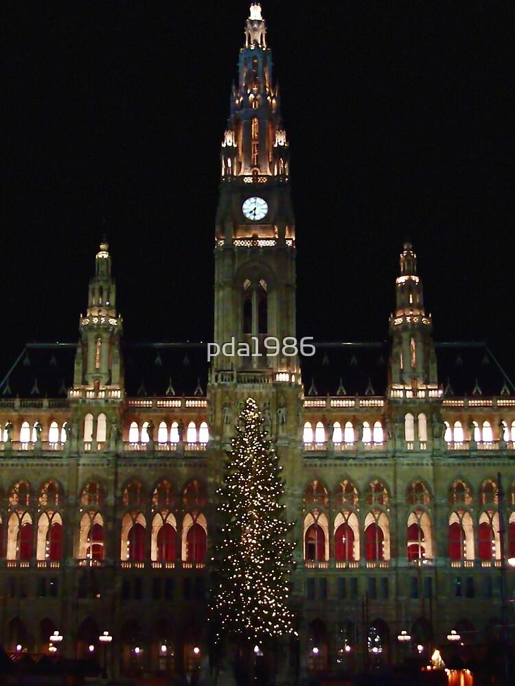 Vienna City Hall at Christmas by pda1986