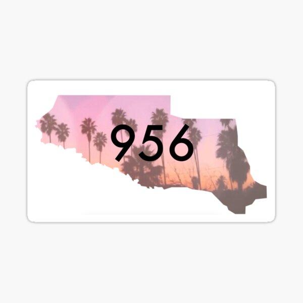 956 Palm Tree Map Sticker