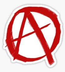 Anarchy Symbol Graffiti Style Sticker
