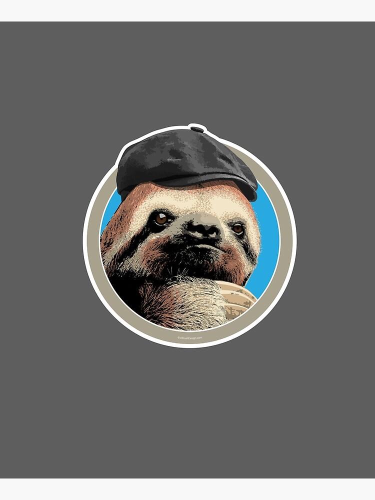 Sloth (in Baker Boy hat) by eBrushDesign
