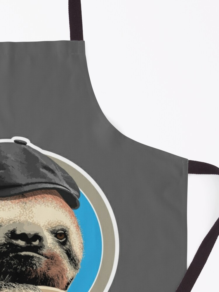 Alternate view of Sloth (in Baker Boy hat) Apron