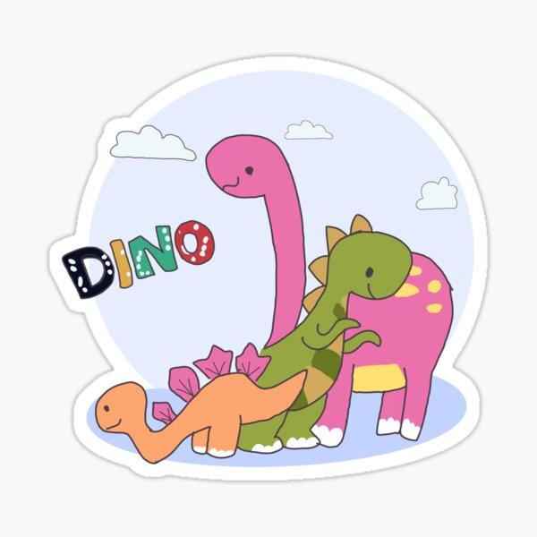 Diseño de camiseta de la familia DINO: está bien no estar bien Pegatina
