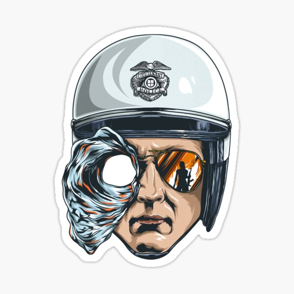 T-1000 Sticker fini brillant
