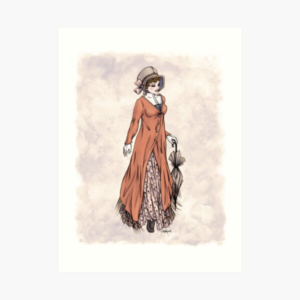 Miss Phoebe Churcham - Regency Fashion Illustration Art Print