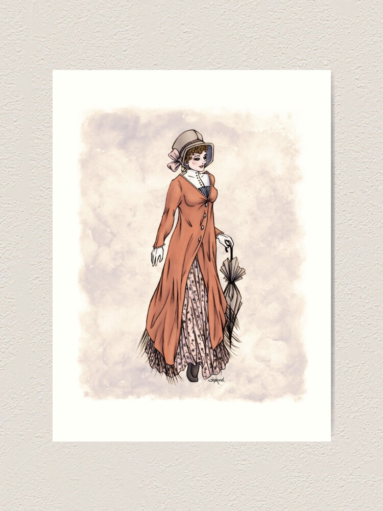 Alternate view of Miss Phoebe Churcham - Regency Fashion Illustration Art Print
