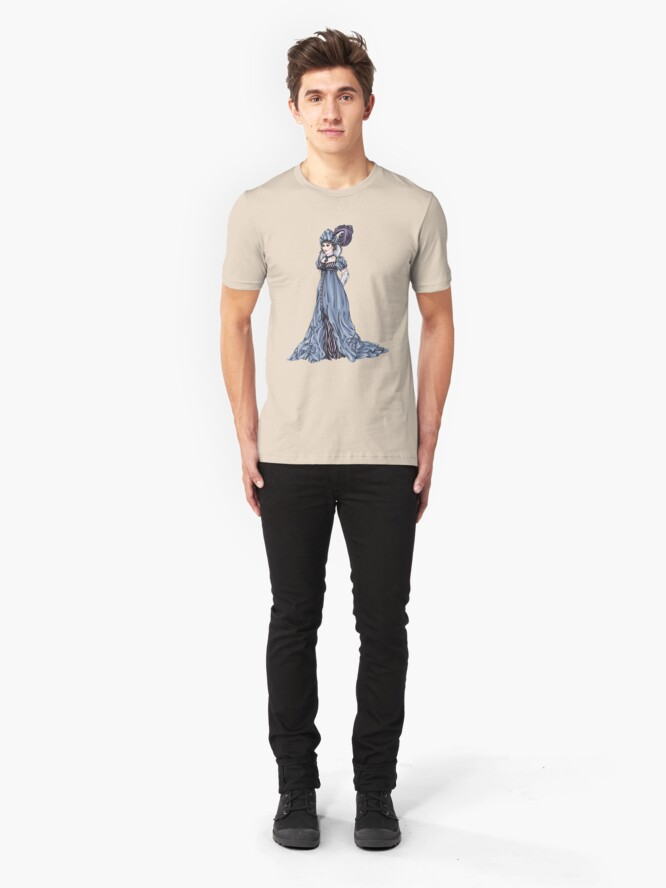 Alternate view of The Dowager Marchioness of Lavington - Regency Fashion Illustration Slim Fit T-Shirt