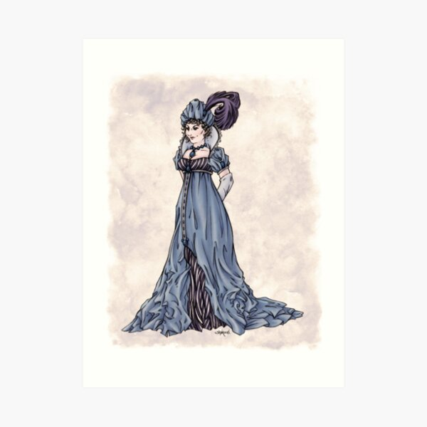The Dowager Marchioness of Lavington - Regency Fashion Illustration Art Print