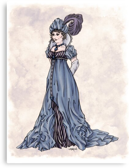The Dowager Marchioness of Lavington - Regency Fashion Illustration by Shakoriel