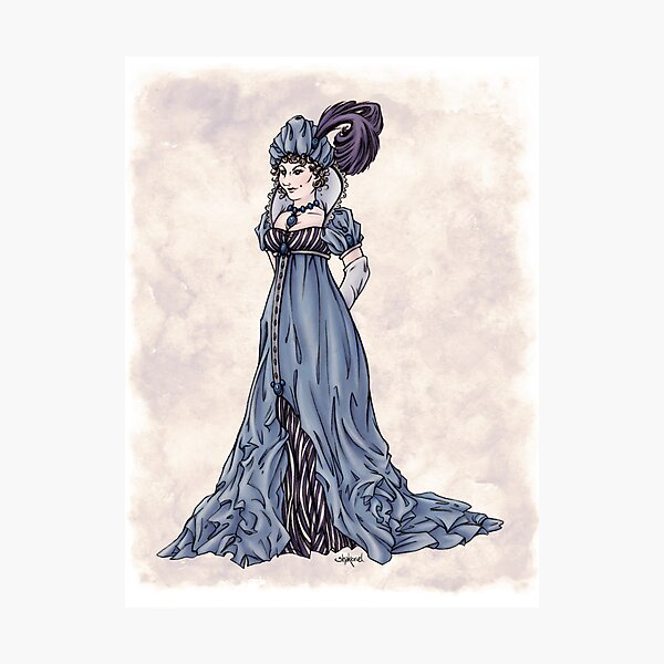The Dowager Marchioness of Lavington - Regency Fashion Illustration Photographic Print
