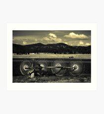Field Tiller  (duotone) Art Print