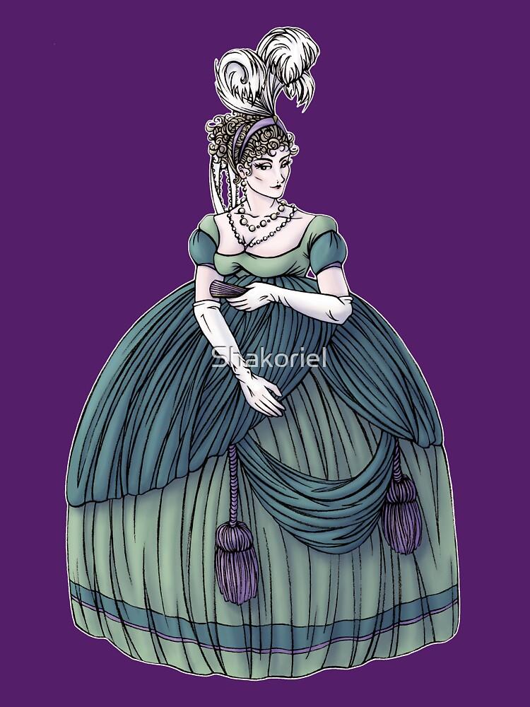 Viscountess Garvestone - Regency Fashion Illustration by Shakoriel