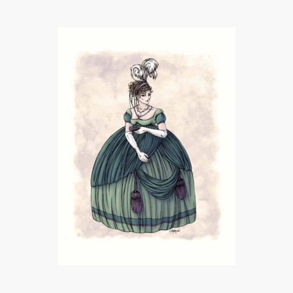 Viscountess Garvestone - Regency Fashion Illustration Art Print