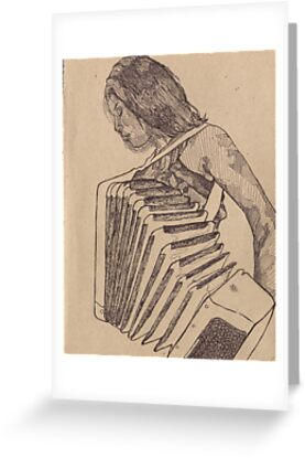 Amanda playing the accordion greeting cards by paxelart redbubble amanda playing the accordion by paxelart m4hsunfo