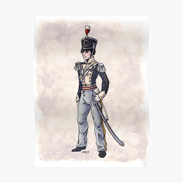 Captain Benjamin Shedfield - Regency Fashion Illustration Poster