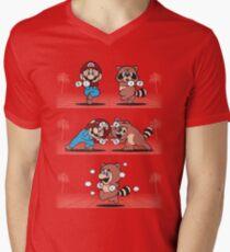 Tanooki Fusion Men's V-Neck T-Shirt