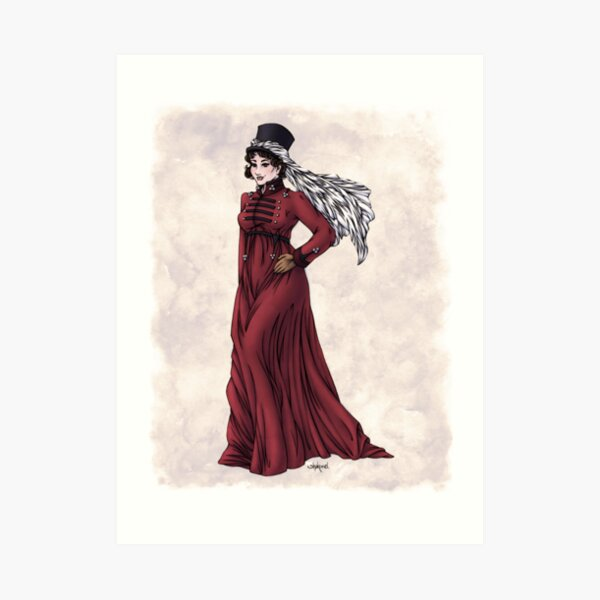 Miss Valeria Fulbourn - Regency Fashion Illustration Art Print