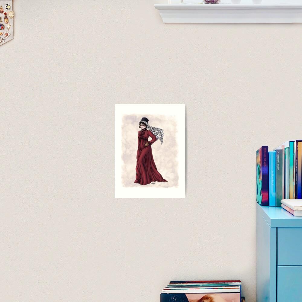 Miss Valeria Fulbourn - Regency Fashion Illustration Art Print