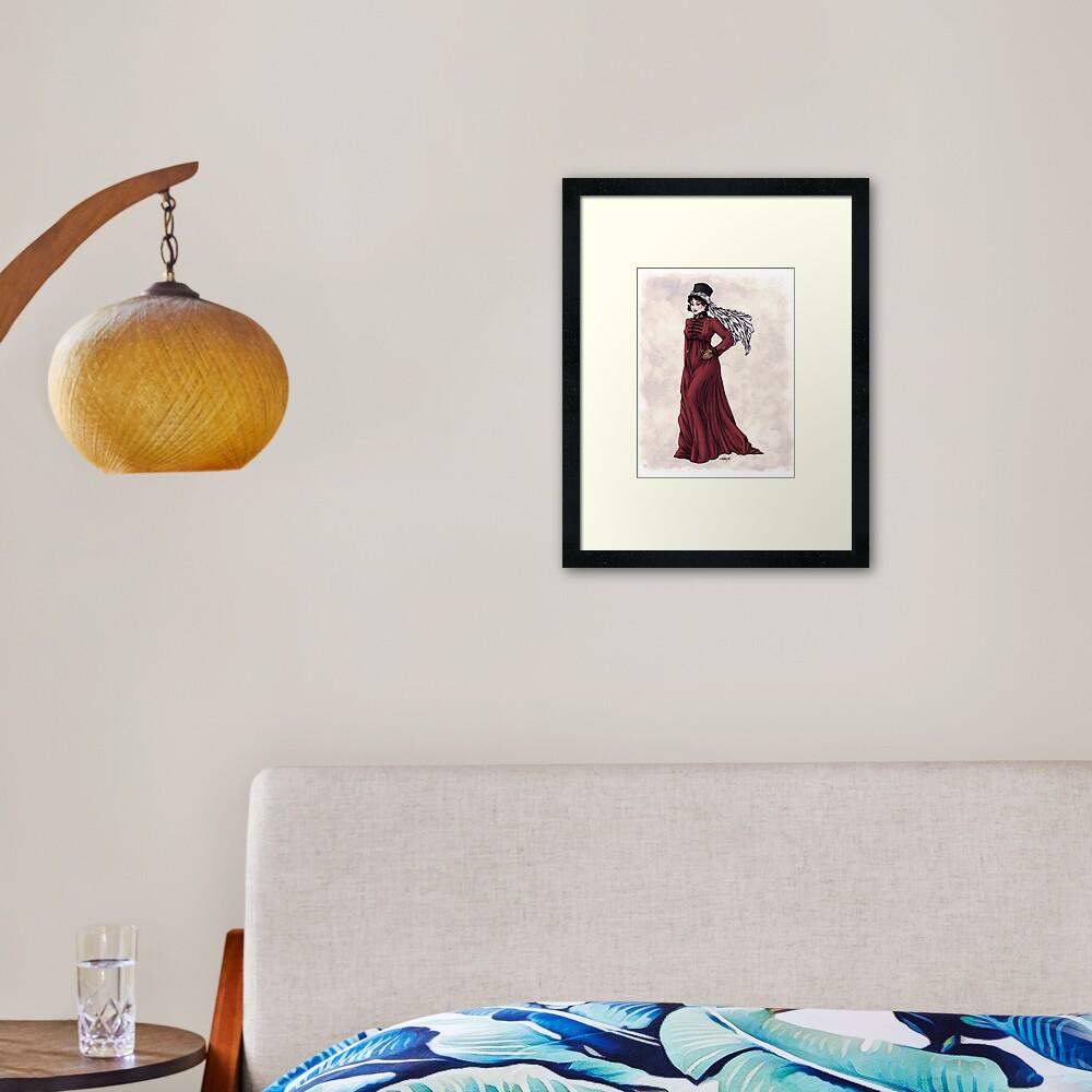 Miss Valeria Fulbourn - Regency Fashion Illustration Framed Art Print