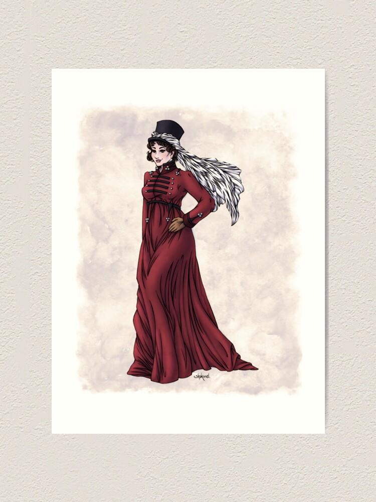 Alternate view of Miss Valeria Fulbourn - Regency Fashion Illustration Art Print