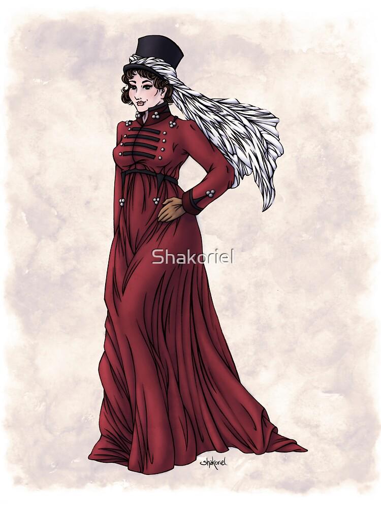 Miss Valeria Fulbourn - Regency Fashion Illustration by Shakoriel