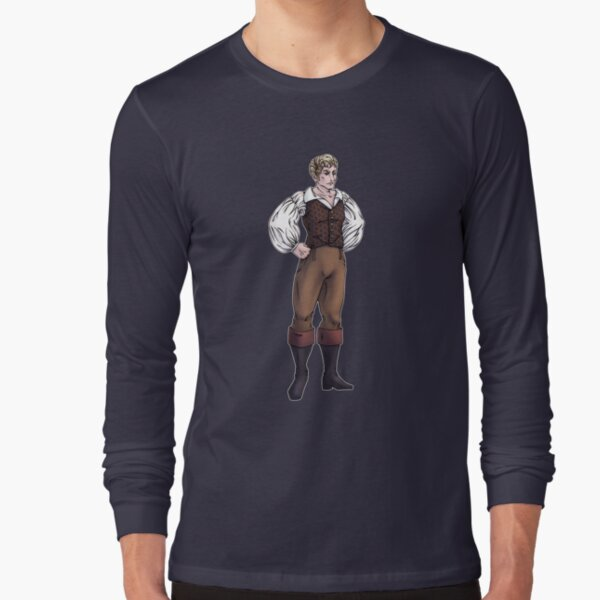 Lord Sebastian Bramdale - Regency Fashion Illustration Long Sleeve T-Shirt