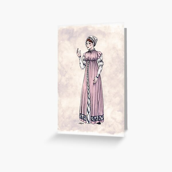 Lady Tabitha Newick - Regency Fashion Illustration Greeting Card