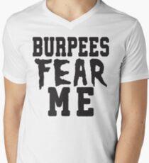 Burpees Fear Me Mens V-Neck T-Shirt