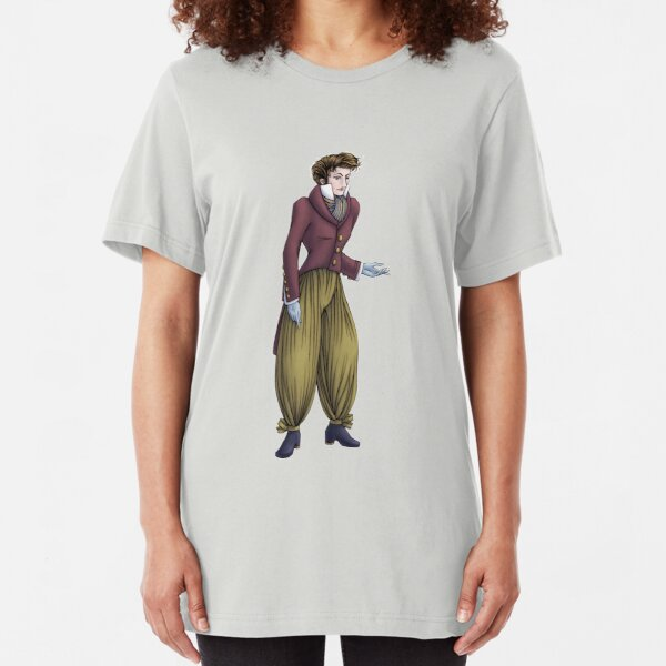 Mr Postumus Enderby - Regency Fashion Illustration Slim Fit T-Shirt