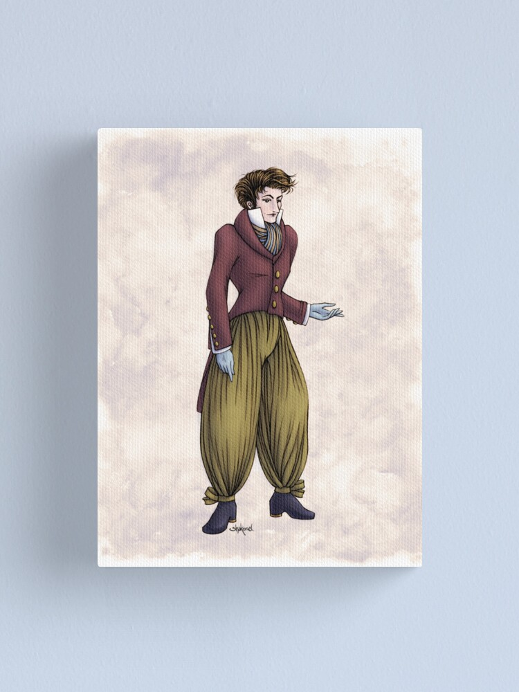 Alternate view of Mr Postumus Enderby - Regency Fashion Illustration Canvas Print