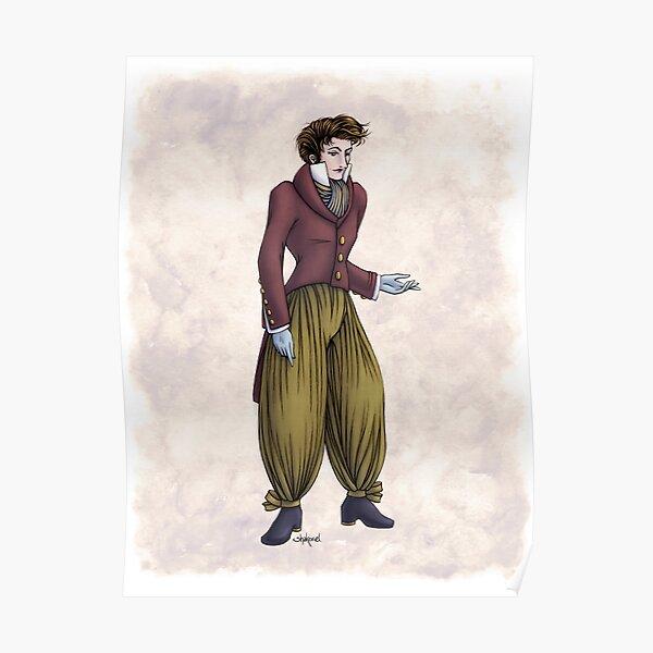 Mr Postumus Enderby - Regency Fashion Illustration Poster