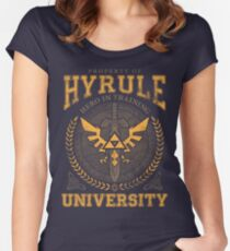 Hyrule University Fitted Scoop T-Shirt