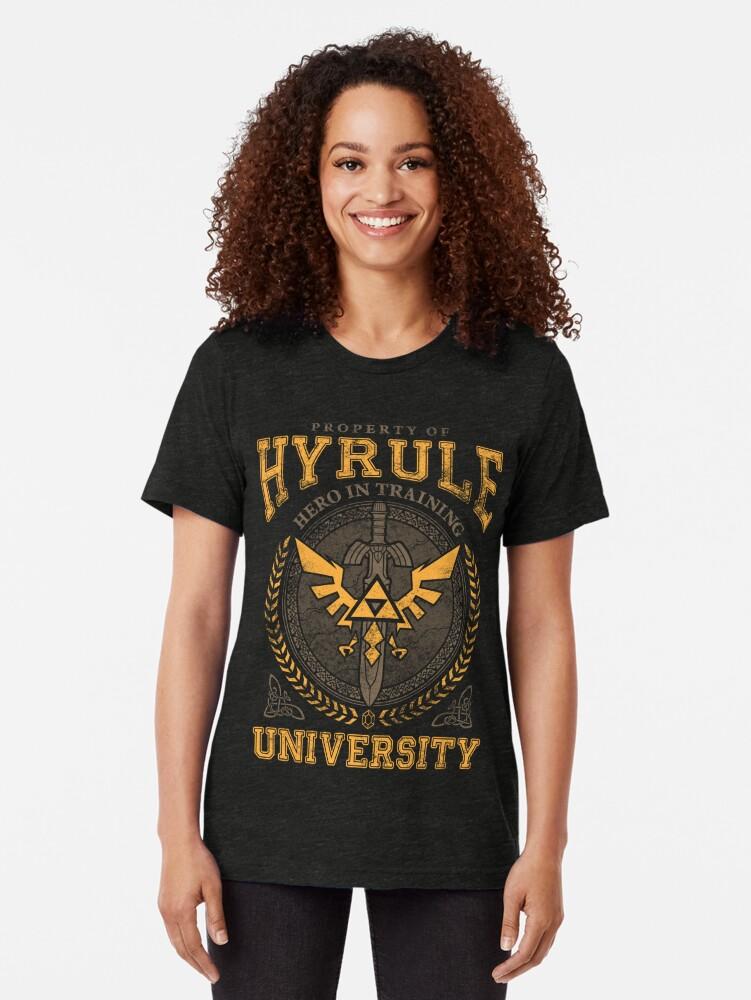 Alternative Ansicht von Hyrule Universität Vintage T-Shirt