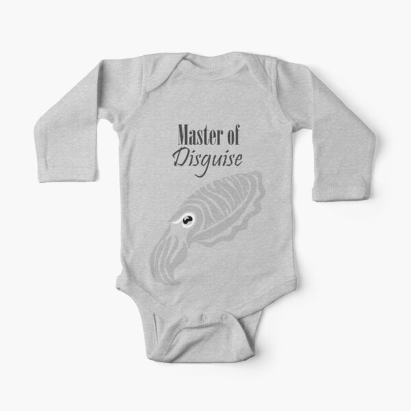 Master of Disguise - Tribalish Cuttlefish (for light-colored items) Long Sleeve Baby One-Piece